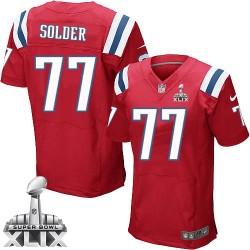 New England Patriots Nate Solder Official Nike Red Elite Adult Alternate Super Bowl XLIX NFL Jersey