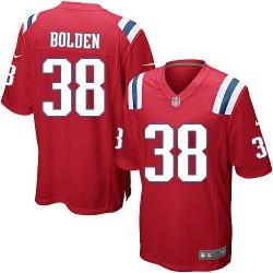 New England Patriots Brandon Bolden Official Nike Red Game Adult Alternate NFL Jersey