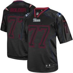 New England Patriots Nate Solder Official Nike Lights Out Black Elite Adult NFL Jersey