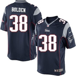 New England Patriots Brandon Bolden Official Nike Navy Blue Limited Adult Home NFL Jersey