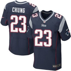 New England Patriots Patrick Chung Official Nike Navy Blue Elite Adult Home NFL Jersey