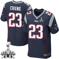 New England Patriots Patrick Chung Official Nike Navy Blue Elite Adult Home Super Bowl XLIX NFL Jersey