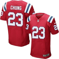 New England Patriots Patrick Chung Official Nike Red Elite Adult Alternate NFL Jersey