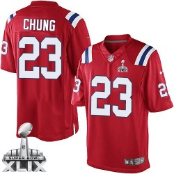 New England Patriots Patrick Chung Official Nike Red Limited Adult Alternate Super Bowl XLIX NFL Jersey