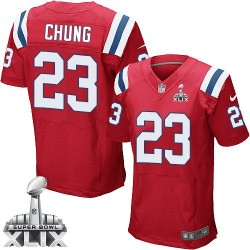 New England Patriots Patrick Chung Official Nike Red Elite Adult Alternate Super Bowl XLIX NFL Jersey