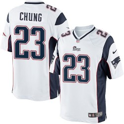 New England Patriots Patrick Chung Official Nike White Limited Adult Road NFL Jersey