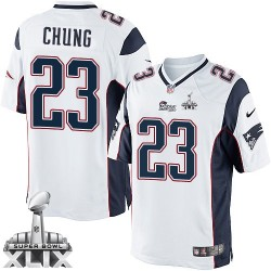 New England Patriots Patrick Chung Official Nike White Limited Adult Road Super Bowl XLIX NFL Jersey