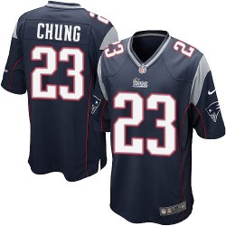 New England Patriots Patrick Chung Official Nike Navy Blue Game Adult Home NFL Jersey