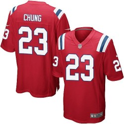 New England Patriots Patrick Chung Official Nike Red Game Adult Alternate NFL Jersey