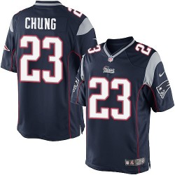 New England Patriots Patrick Chung Official Nike Navy Blue Limited Adult Home NFL Jersey