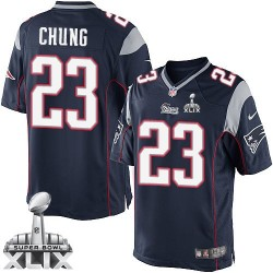 New England Patriots Patrick Chung Official Nike Navy Blue Limited Adult Home Super Bowl XLIX NFL Jersey