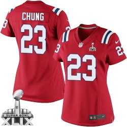 New England Patriots Patrick Chung Official Nike Red Elite Women's Alternate Super Bowl XLIX NFL Jersey