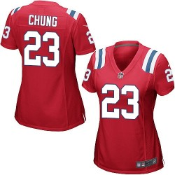 New England Patriots Patrick Chung Official Nike Red Game Women's Alternate NFL Jersey
