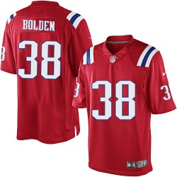 New England Patriots Brandon Bolden Official Nike Red Limited Adult Alternate NFL Jersey