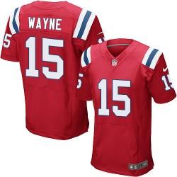New England Patriots Reggie Wayne Official Nike Red Elite Adult Alternate NFL Jersey