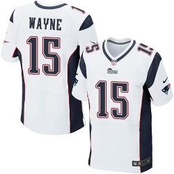 New England Patriots Reggie Wayne Official Nike White Elite Adult Road NFL Jersey