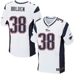 New England Patriots Brandon Bolden Official Nike White Elite Adult Road NFL Jersey