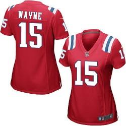 New England Patriots Reggie Wayne Official Nike Red Game Women's Alternate NFL Jersey