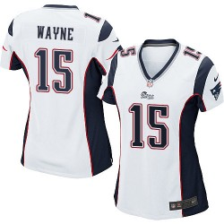 New England Patriots Reggie Wayne Official Nike White Game Women's Road NFL Jersey