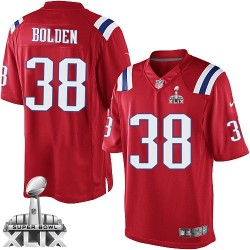 New England Patriots Brandon Bolden Official Nike Red Limited Adult Alternate Super Bowl XLIX NFL Jersey