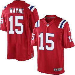 New England Patriots Reggie Wayne Official Nike Red Elite Youth Alternate NFL Jersey