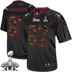 New England Patriots Rob Gronkowski Official Nike Black Elite Adult Camo Fashion Super Bowl XLIX NFL Jersey