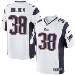 New England Patriots Brandon Bolden Official Nike White Limited Adult Road NFL Jersey