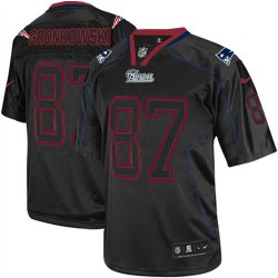 New England Patriots Rob Gronkowski Official Nike Lights Out Black Elite Adult NFL Jersey
