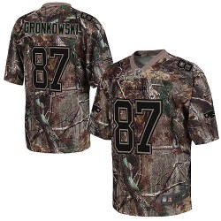 New England Patriots Rob Gronkowski Official Nike Camo Elite Adult Realtree NFL Jersey