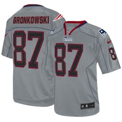 New England Patriots Rob Gronkowski Official Nike Lights Out Grey Elite Adult NFL Jersey