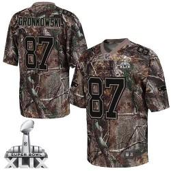 New England Patriots Rob Gronkowski Official Nike Camo Elite Adult Realtree Super Bowl XLIX NFL Jersey