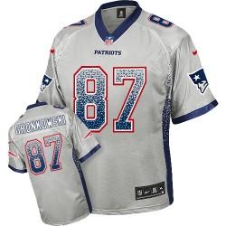 New England Patriots Rob Gronkowski Official Nike Grey Elite Adult Drift Fashion NFL Jersey
