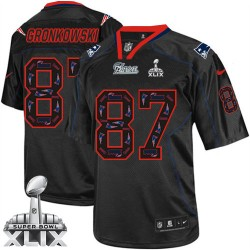 New England Patriots Rob Gronkowski Official Nike New Lights Out Black Elite Adult Super Bowl XLIX NFL Jersey