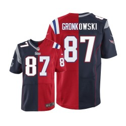 New England Patriots Rob Gronkowski Official Nike Two Tone Elite Adult  Team Alternate NFL Jersey 1336aa5cc