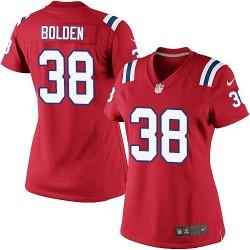 New England Patriots Brandon Bolden Official Nike Red Elite Women's Alternate NFL Jersey