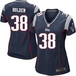 New England Patriots Brandon Bolden Official Nike Navy Blue Game Women's Home NFL Jersey