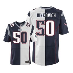 New England Patriots Rob Ninkovich Official Nike Two Tone Elite Adult Team/Road NFL Jersey