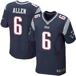 New England Patriots Ryan Allen Official Nike Navy Blue Elite Adult Home NFL Jersey
