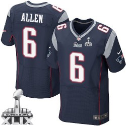 New England Patriots Ryan Allen Official Nike Navy Blue Elite Adult Home Super Bowl XLIX NFL Jersey
