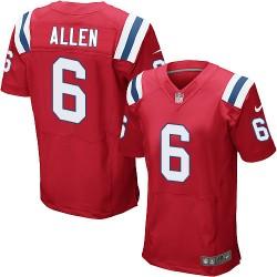 New England Patriots Ryan Allen Official Nike Red Elite Adult Alternate NFL Jersey