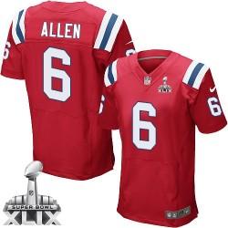 New England Patriots Ryan Allen Official Nike Red Elite Adult Alternate Super Bowl XLIX NFL Jersey