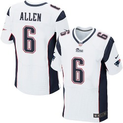New England Patriots Ryan Allen Official Nike White Elite Adult Road NFL Jersey