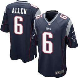 New England Patriots Ryan Allen Official Nike Navy Blue Game Adult Home NFL Jersey