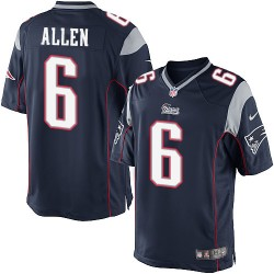 New England Patriots Ryan Allen Official Nike Navy Blue Limited Adult Home NFL Jersey