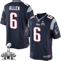 New England Patriots Ryan Allen Official Nike Navy Blue Limited Adult Home Super Bowl XLIX NFL Jersey