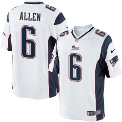 New England Patriots Ryan Allen Official Nike White Limited Adult Road NFL Jersey