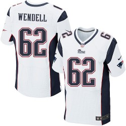 New England Patriots Ryan Wendell Official Nike White Elite Adult Road NFL Jersey