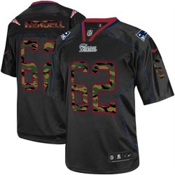 New England Patriots Ryan Wendell Official Nike Black Elite Adult Camo Fashion NFL Jersey