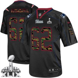 New England Patriots Ryan Wendell Official Nike Black Elite Adult Camo Fashion Super Bowl XLIX NFL Jersey