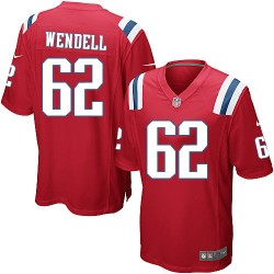 New England Patriots Ryan Wendell Official Nike Red Game Adult Alternate NFL Jersey